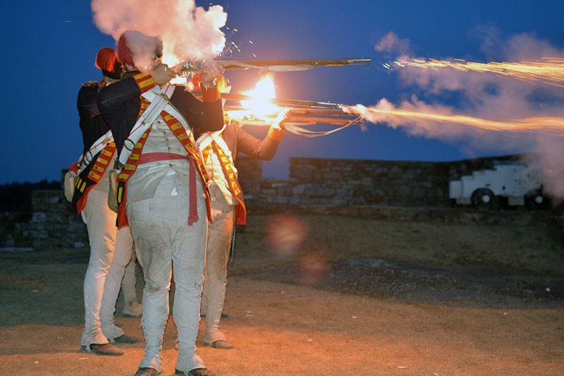 Guns by Night - Photo Credit Fort Ticonderoga