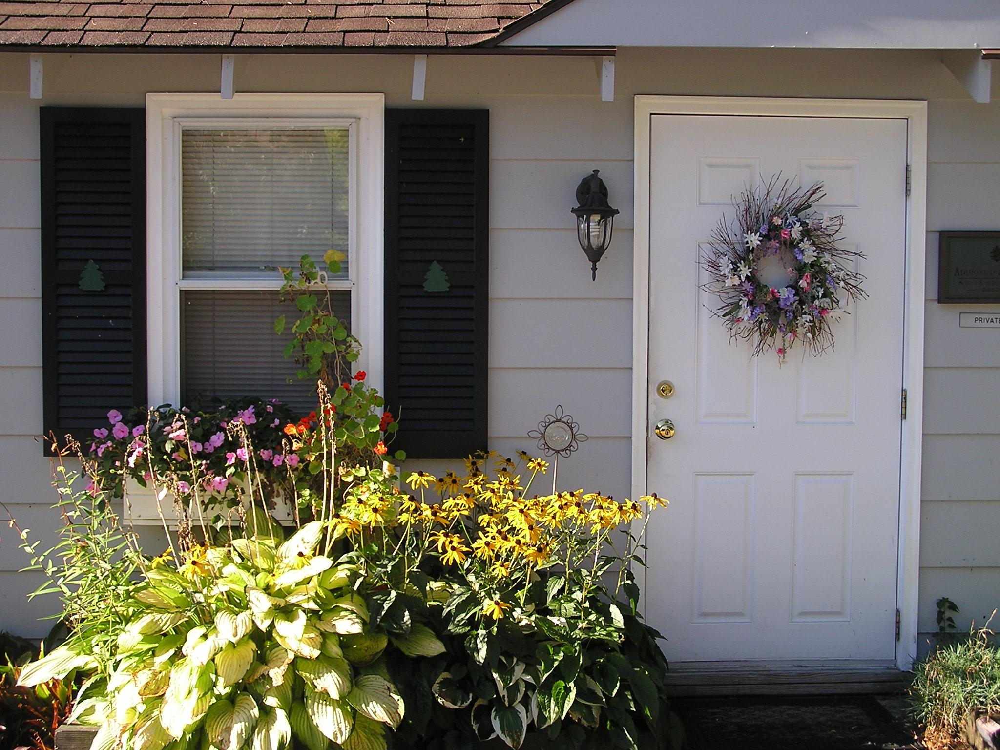 Adirondack Cottage Entrance