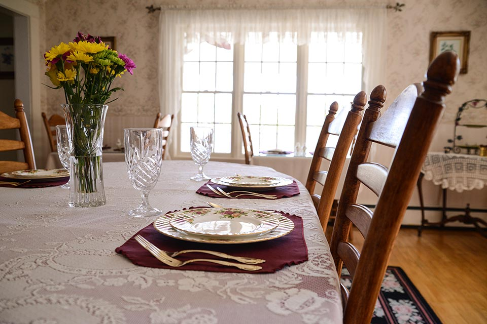 Dining room at Schroon Lake B&B