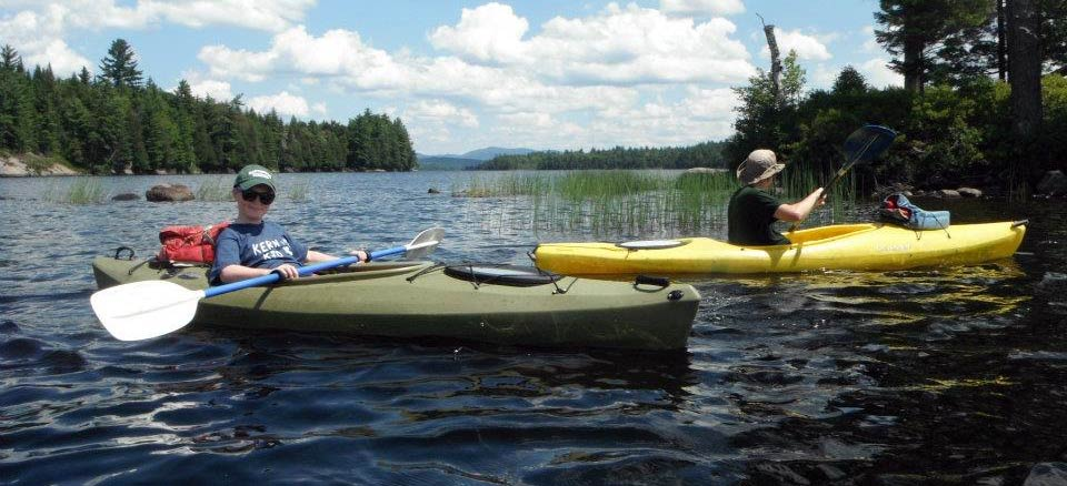 Father and son kayaking in Adirondacks - Photo Courtesy of Regional Office of Sustainable Tourism