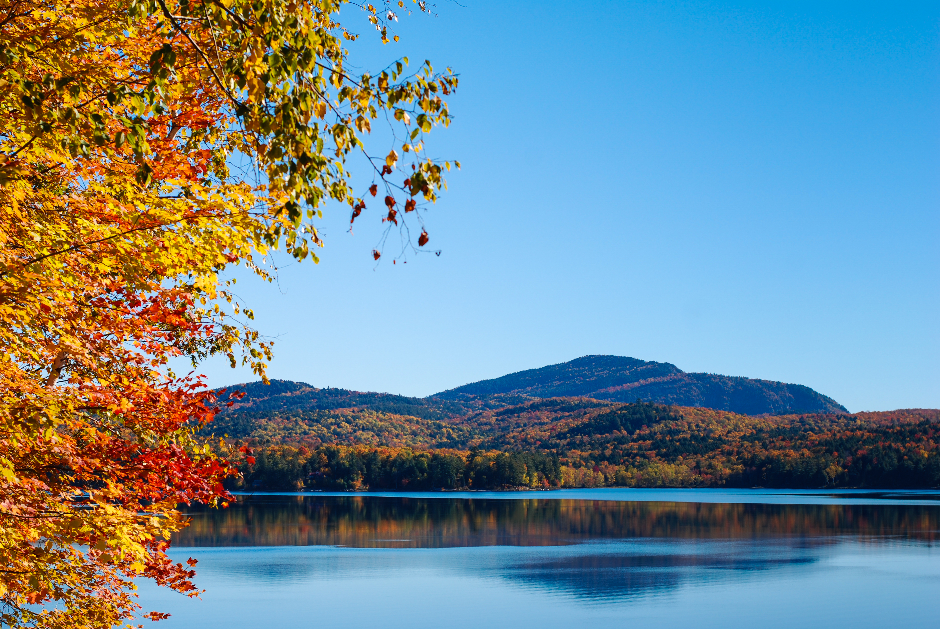 Schroon Lake in Fall