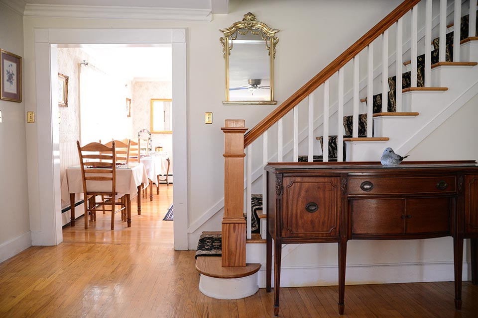Schroon Lake Bed and Breakfast staircase