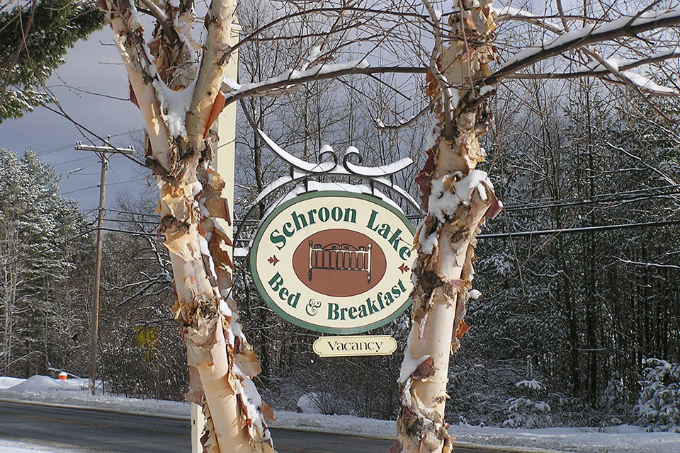 Schroon Lake Bed & Breakfast Sign